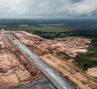 Construction of airstrips/ roads/ runways